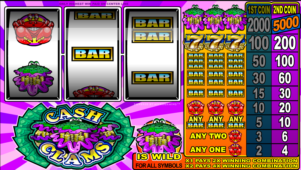 CASH CLAMS AT ALL BRITISH CASINO