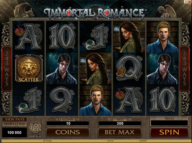 IMMORTAL ROMANCE AT GLIMMER CASINO