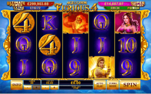 Age of Gods: Furious 4 at slots heaven