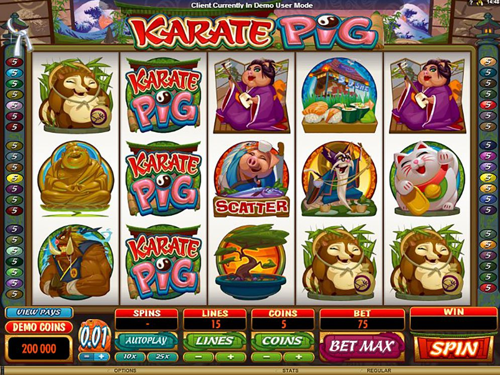 KARATE PIG at vegas paradise casino