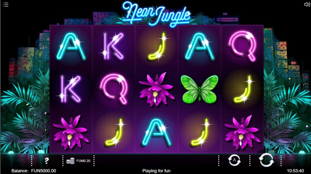 Neon Jungle at glimmer casino