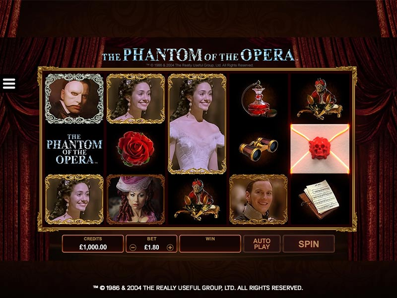Phantom of the Opera at vegas paradise casino