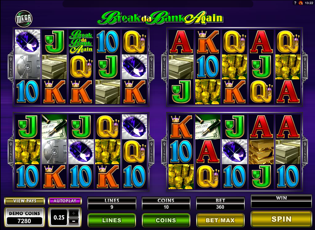 BREAK DA BANK AGAIN MEGA SPINS at fruity king