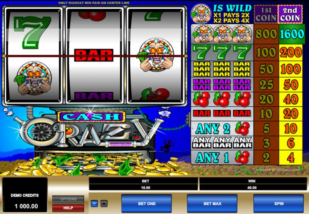 CASH CRAZY at all british casino