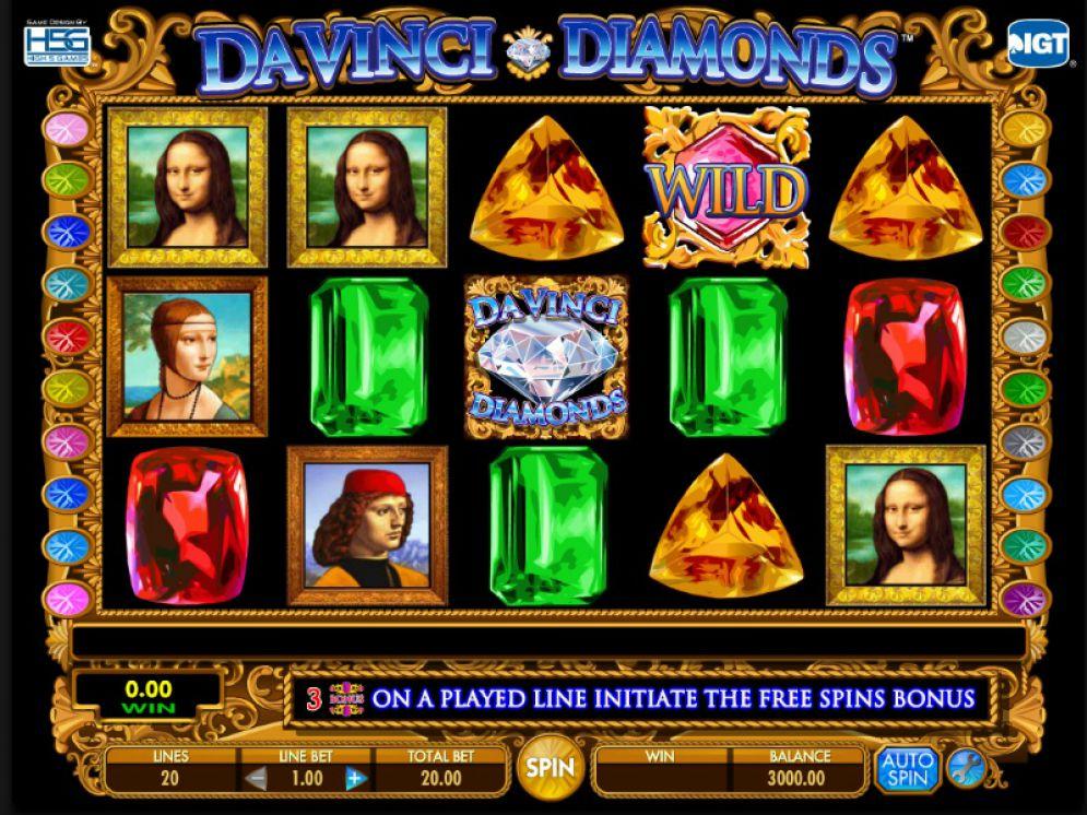 DA VINCI DIAMONDS at netbet casino