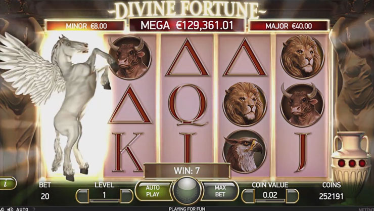 DIVINE FORTUNE at yeti casino