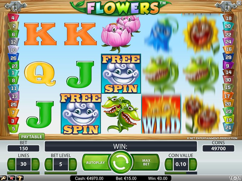 FLOWERS at kerching casino