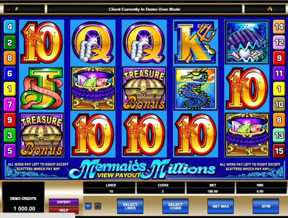 MERMAIDS MILLIONS at dazzle casino