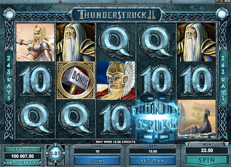 THUNDERSTRUCK 2 at jackpot mobile casino