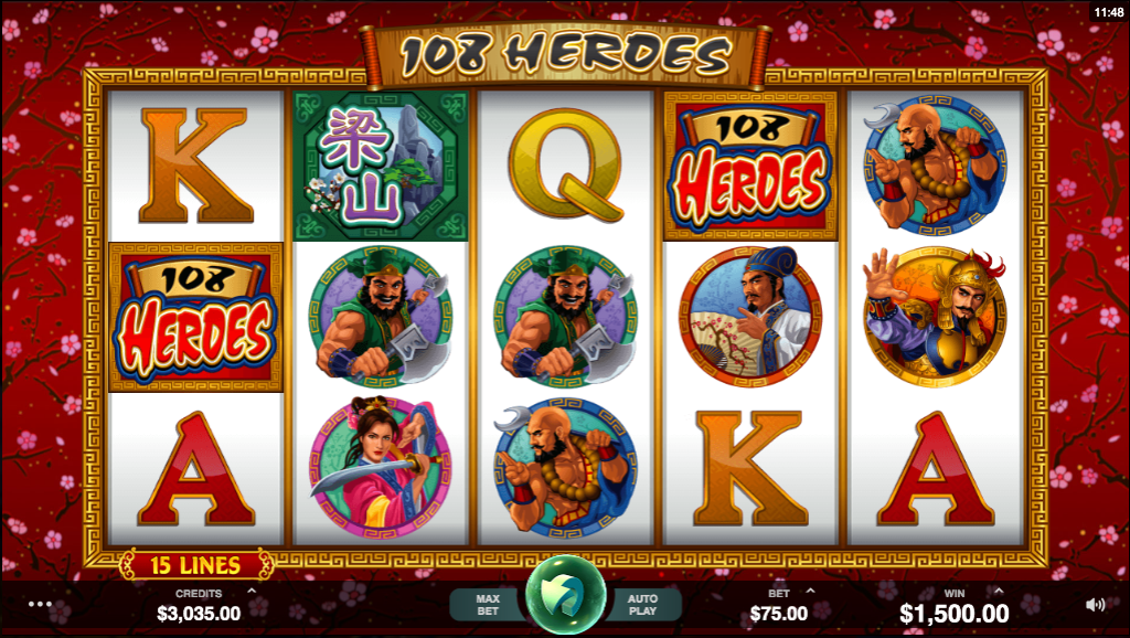 108 Heroes at all british casino