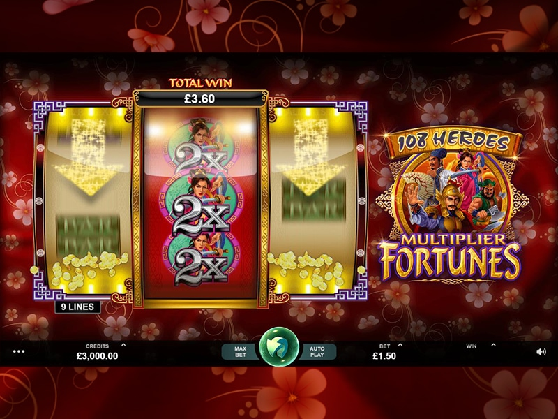 108 Heroes Multiplier Fortunes at vegas paradise casino