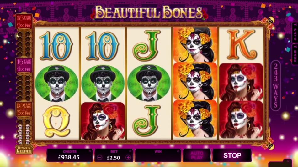 Beautiful Bones at jackpot mobile casino