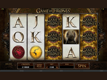 Game of Thrones 15 lines at conquer casino