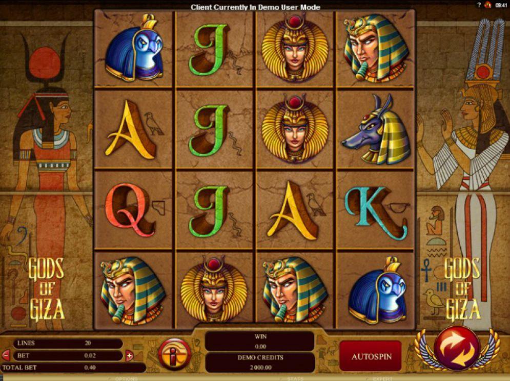 Gods of Giza at dazzle casino
