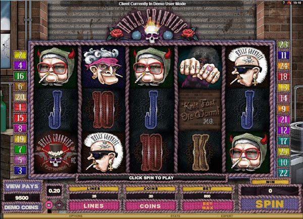 Hells Grannies at conquer casino
