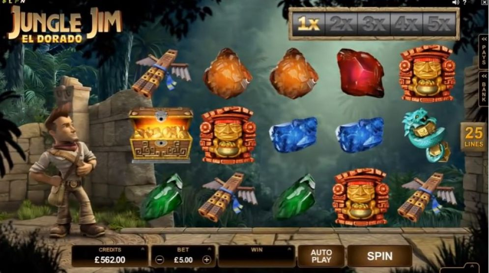 Jungle Jim El Dorado at jackpot mobile casino