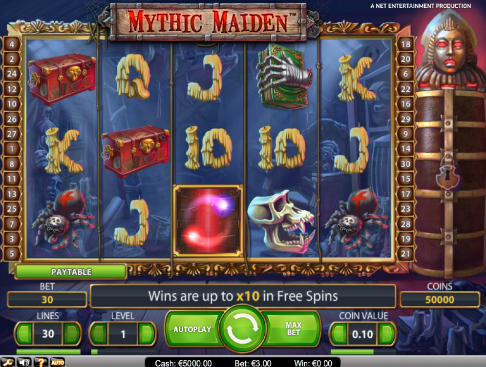 Mythic Maiden at glimmer casino