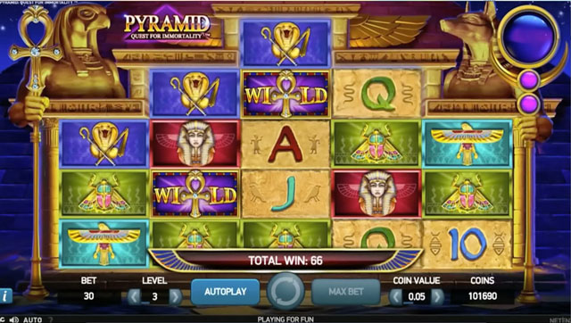 PYRAMID: QUEST FOR IMMORTALITY at yeti casino