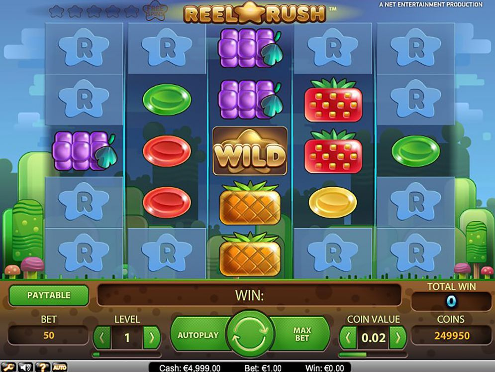 Reel Rush at kerching casino