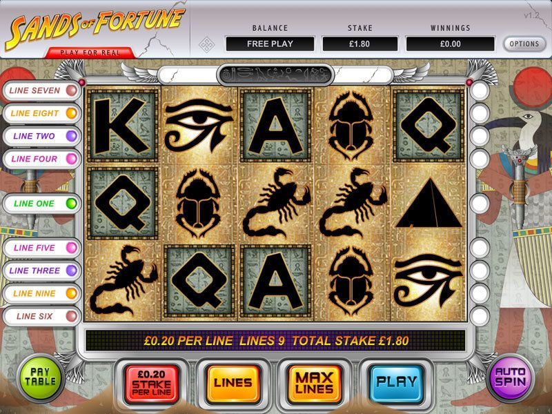 Sands of Fortune at dazzle casino