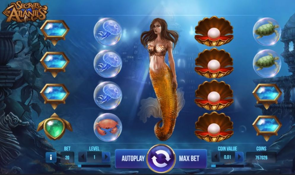 Secrets of Atlantis at jackpot mobile casino