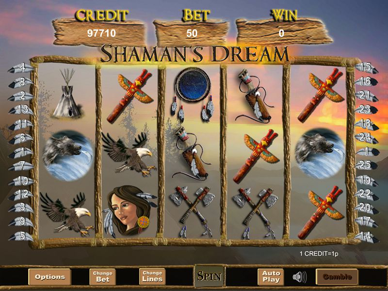 Shaman's Dream at conquer casino