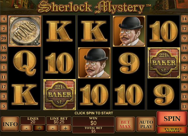 Sherlock Mystery at netbet casino