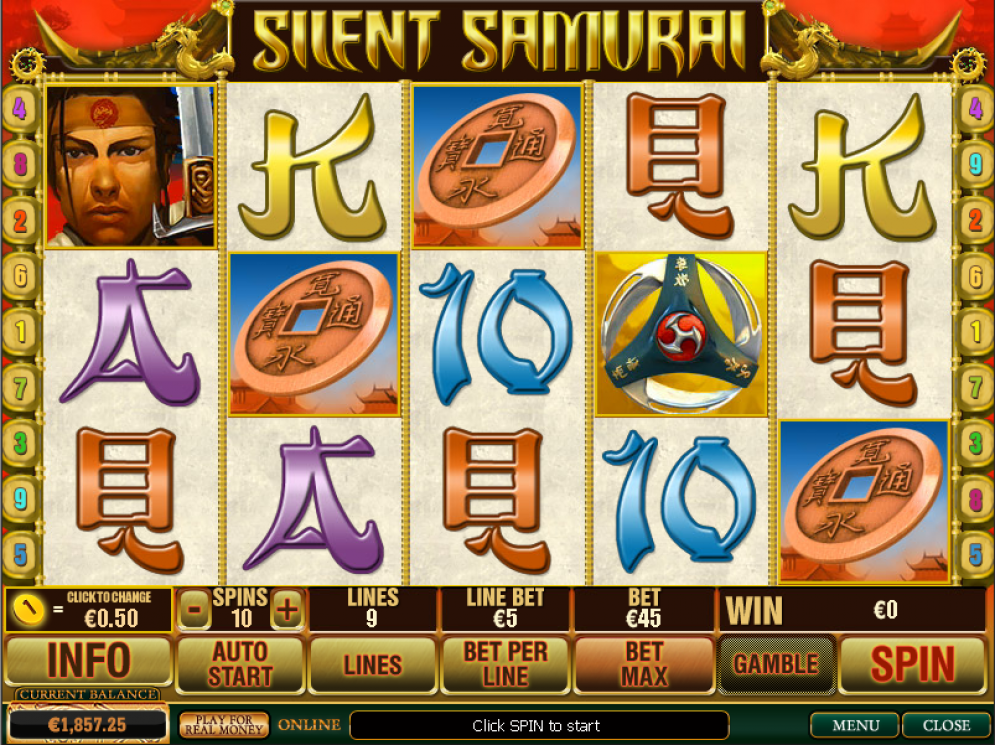 Silent Samurai at winner casino