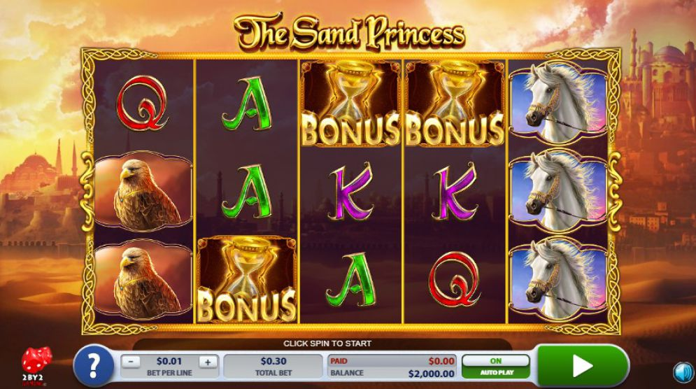 The Sand Princess at jackpot mobile casino