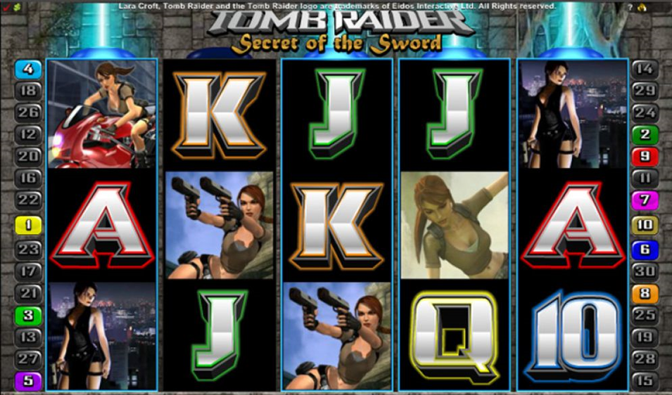 Tomb Raider: Secret of the Sword at vegas paradise casino