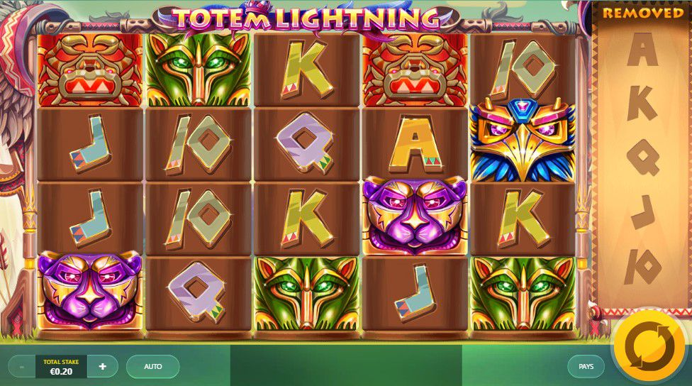 Totem Lightning at touch lucky casino