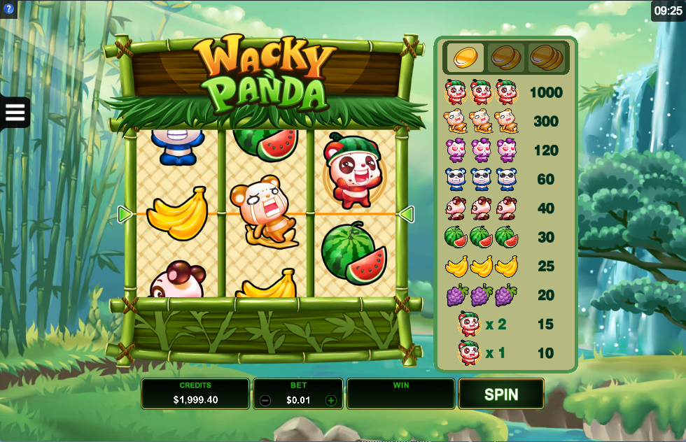 Wacky Panda at touch lucky casino