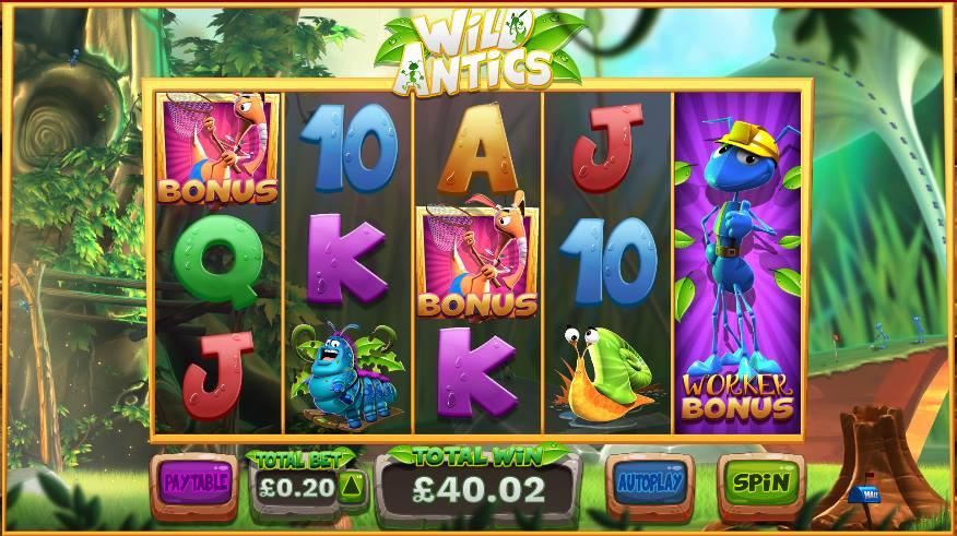 Wild Antics at dazzle casino