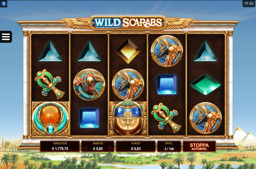 Wild Scarabs at touch lucky casino