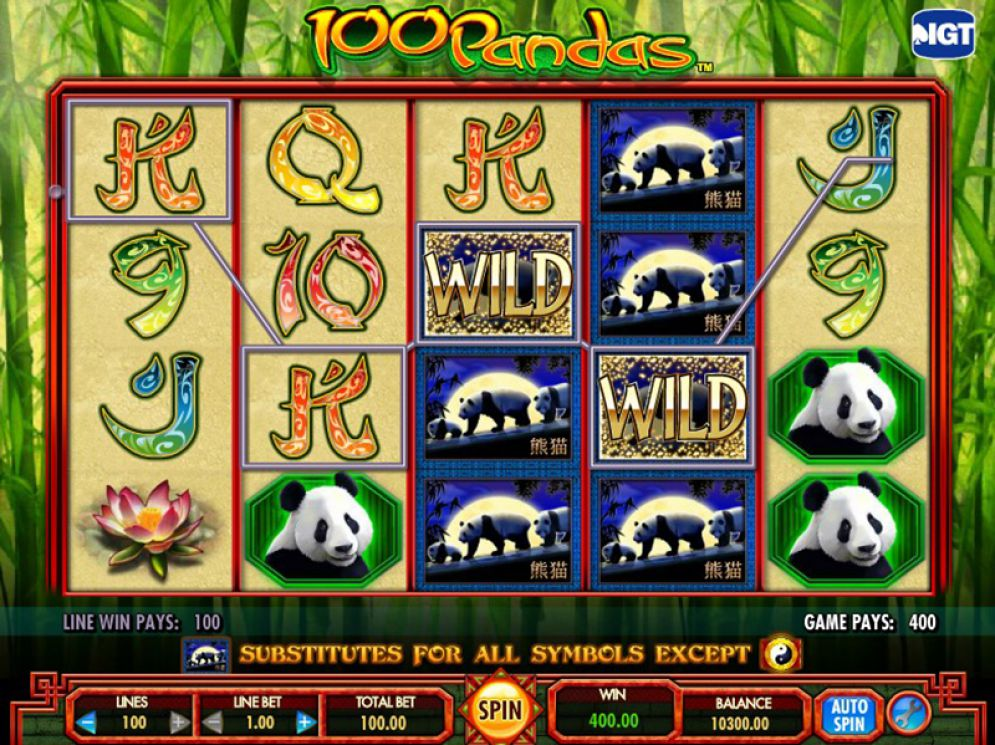 100 Pandas at dazzle casino