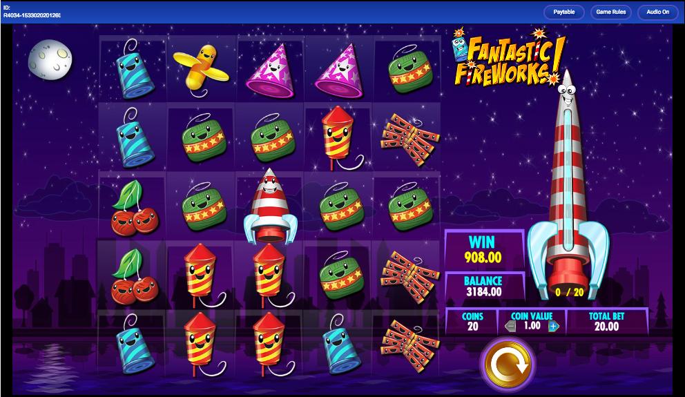 Fantastic Fireworks at slingo
