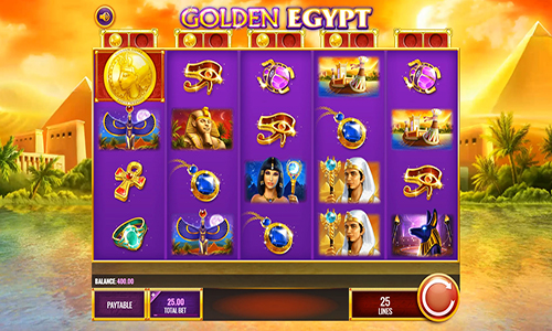 Golden Egypt at jackpot mobile casino