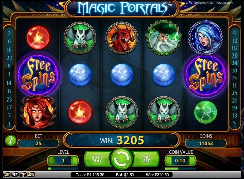 Magic Portals at chomp casino