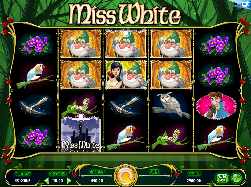 Miss White at chomp casino