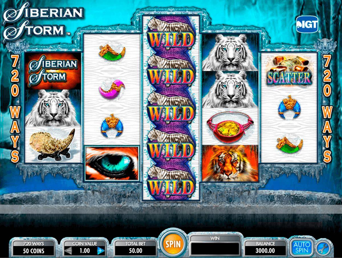 Siberian Storm at Kerching casino
