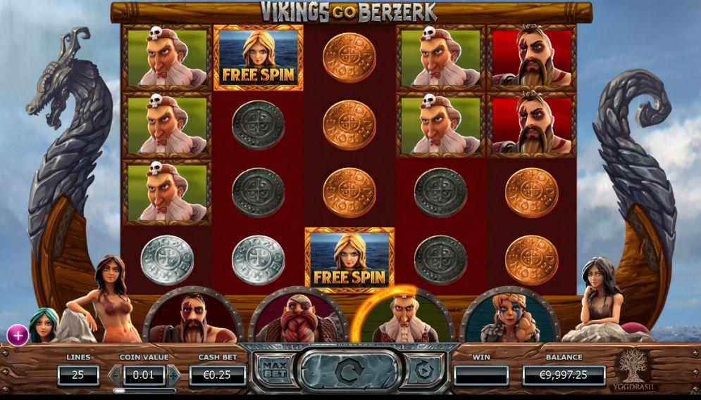 Vikings Go Berzerk at slingo