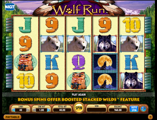 Wolf Run at kerching casino