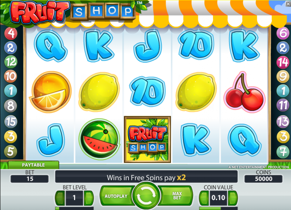 fruit shop at scorching slots