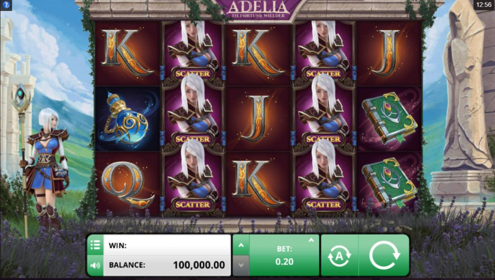 Adelia the Fortune Wielder at jackpot mobile casino