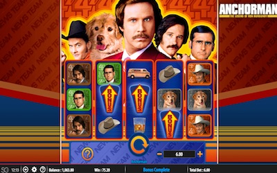 Anchorman: The Legend of Ron Burgundy at yeti casino