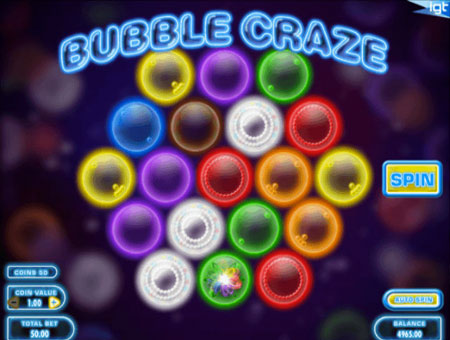 Bubble Craze at kerching casino