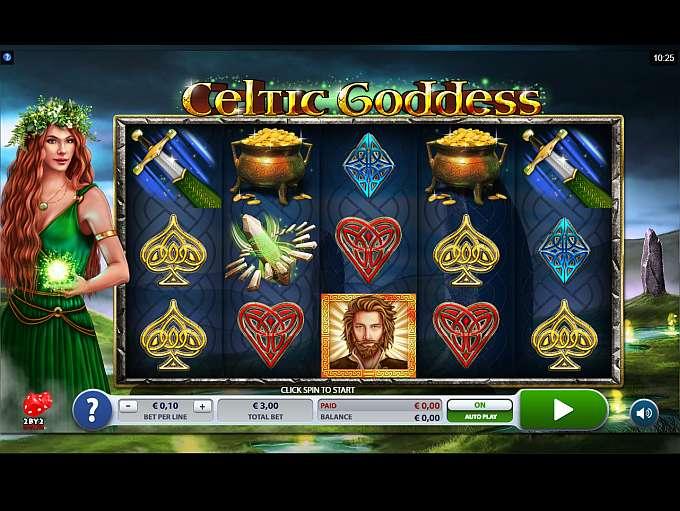 Celtic Goddess at dazzle casino