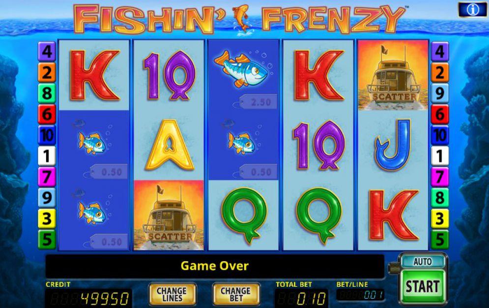 Fishin Frenzy at oreels casino