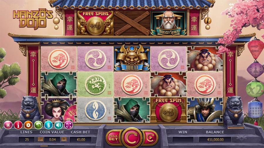 Hanzo's Dojo at kerching casino