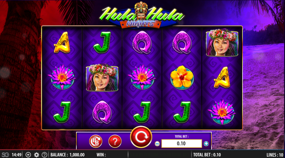 Hula Hula Nights at all british casino